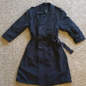 Brooks Brothers Black Men's Full Body Trench Coat